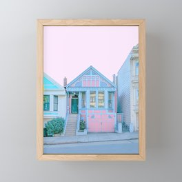 San Francisco Painted Lady Victorian House Framed Mini Art Print