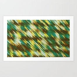 green yellow and brown abstract texture background Art Print