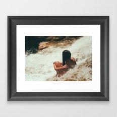girl in river Framed Art Print