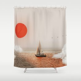 Golden Hour - Digital Collage Shower Curtain
