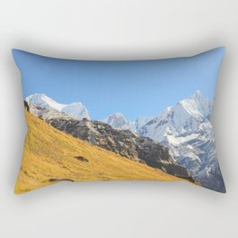 Annapurna mountain range Rectangular Pillow