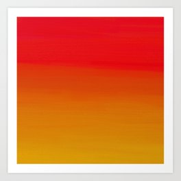 Red Apple and Golden Honey Ombre Sunset Art Print
