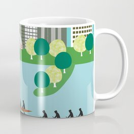 Boston, Massachusetts - Skyline Illustration by Loose Petals Coffee Mug