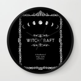 Witchcraft A Handbook of Magic Spells and Potions Wall Clock