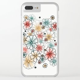 Sprayed Blooms Clear iPhone Case