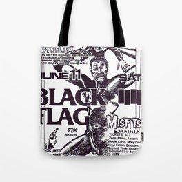 Black Flag Show Flyer Tote Bag