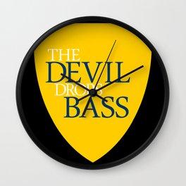 The Devil Drops Bass Wall Clock