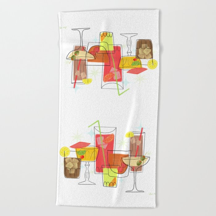 Swanky Summer Coolers Beach Towel