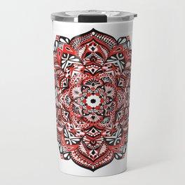 Red Blossom Travel Mug