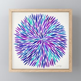 Lavender Burst Framed Mini Art Print