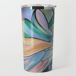 Middle Eastern Belly Dance With Pastel Veils Travel Mug