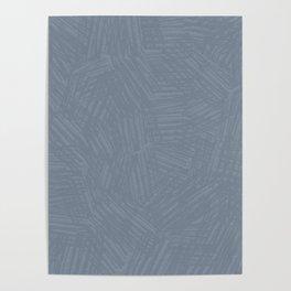 Light Slate Gray Marks Poster