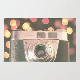 Film camera and magic bokeh (Vintage and Retro Still Life Photography)  Rug