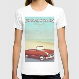 Bognor Regis Sussex travel poster T-shirt
