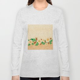 Abstract roses background Long Sleeve T-shirt