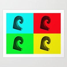 Pop Art Wave Art Print