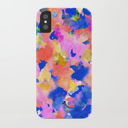 Floral splash iPhone Case
