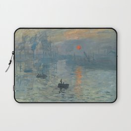 Impression, Sunrise, Claude Monet, 1872 Laptop Sleeve