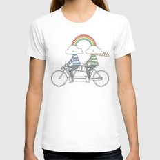 Love makes life a beautiful ride White Womens Fitted Tee SMALL