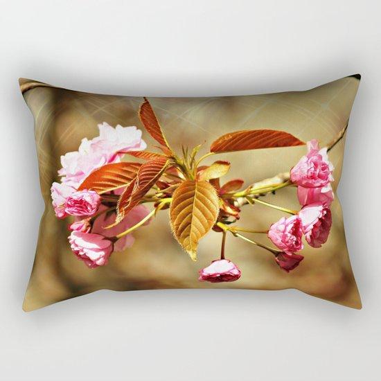 Vintage Cherry Blossoms Rectangular Pillow