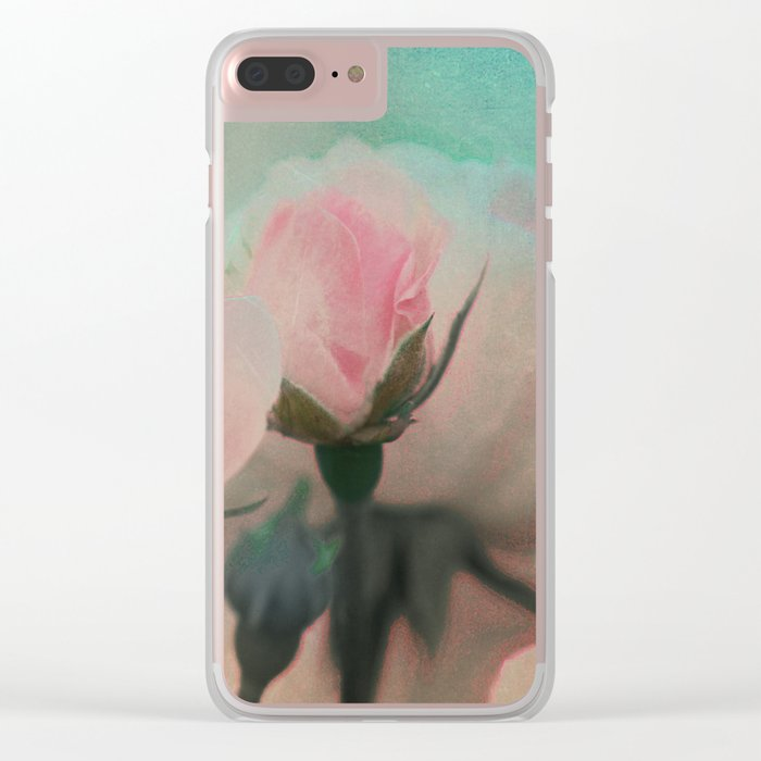 Vintage roses 9 Clear iPhone Case