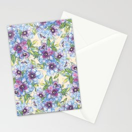 Big Blue Poppies Stationery Cards