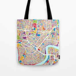 New Orleans Street Map Tote Bag