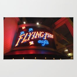 The Flying Fish Cafe Sign Rug