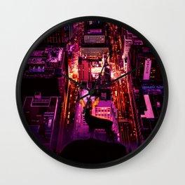 Deer overlooking the city by GEN Z Wall Clock