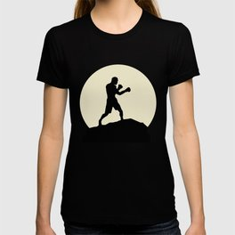 Fantastic Boxer And Moon Design T-shirt