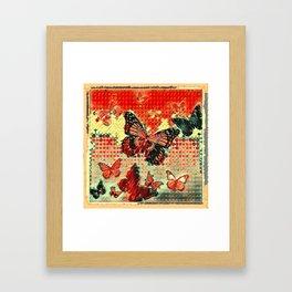 MODERN ART DESIGN of ABSTRACTED BUTTERFLIES Framed Art Print