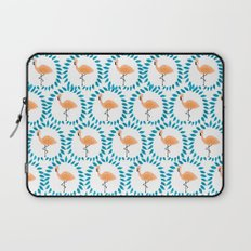 Flamingo and Leaves Laptop Sleeve
