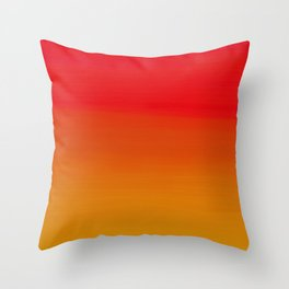 Red Apple and Golden Honey Ombre Sunset Throw Pillow