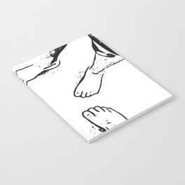 Feet on the sand Notebook