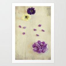 Violet sweets Art Print