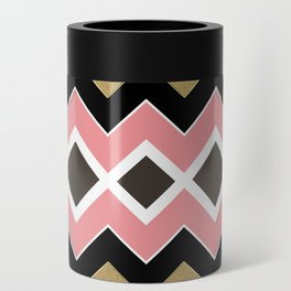 Gold Pastel Chevronize Can Cooler