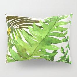 Watercolor Plants Pillow Sham