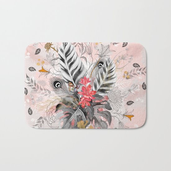 Abstract nature collage Bath Mat