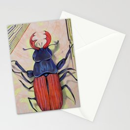 The measurement of space / stag-beetle Stationery Cards