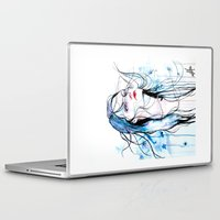 agnes Laptop & iPad Skins featuring Agnes Cecile inspired painting  by SOLMONTASER