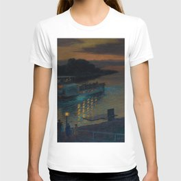 A Nightly River Cruise, Mississippi River by Ernst Max Pietschmann T-shirt