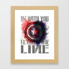 Til the End of the Line Framed Art Print