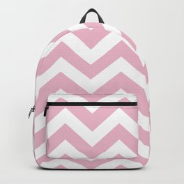 Cameo pink - pink color - Zigzag Chevron Pattern Backpack