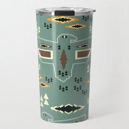 Native pattern with birds Travel Mug