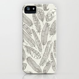 scattered feathers natural iPhone Case