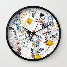 organic floral print Wall Clock