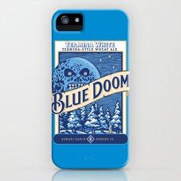 Blue Doom iPhone Case