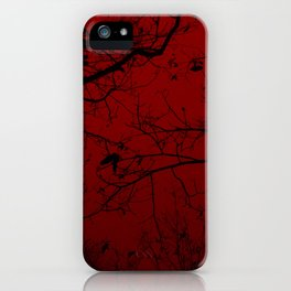 Red Forest iPhone Case