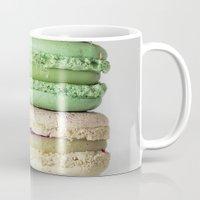 macarons Mugs featuring Macarons by Lucía Gámez