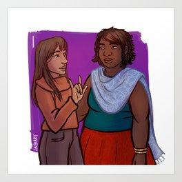 Amara & Cilla Art Print